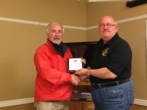 VO1DK Everett receives the Harold Dickinson Award for acts of humanity and significance to amateur radio.